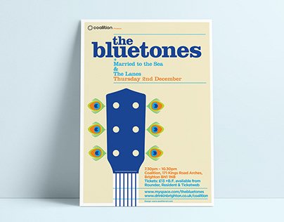 The Bluetones Gig Poster