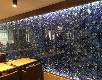 Glass Art Installation for Fesa Business Hotel