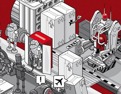 Droid Factory Wimmelbild - Industrie 4.0