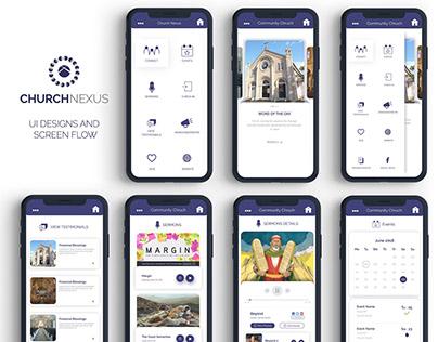 Church Nexus App UI Design