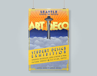 Poster design (student art deco exhibition)