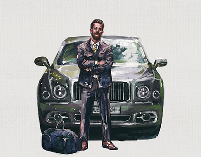 Commercial Illustration for Bentley