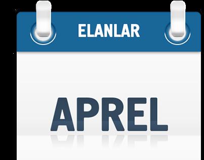 Calendar months free PSD icons
