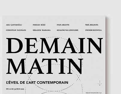 """Catalog for the exhibition """"Demain Matin"""" in Paris"""