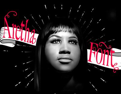 Aretha Franklin tribute Free Font