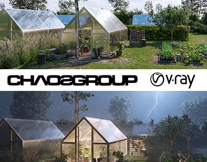 Greenhouse gardens - 3D visualizations