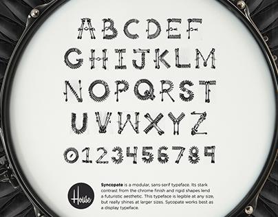 Syncopate Typeface Design
