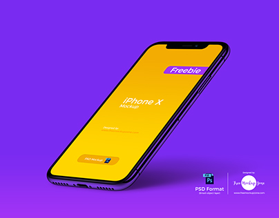Free iPhone X Perspective Mockup of 2018