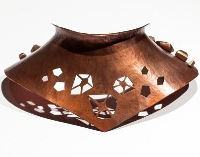 Moving Forward, copper neckpiece