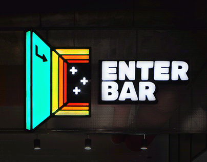 Enter Bar \ branding and wall graphics