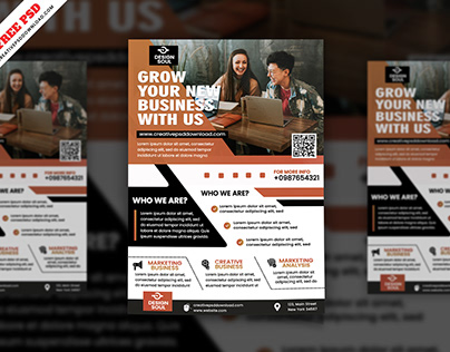 Corporate Flyer Freebie PSD