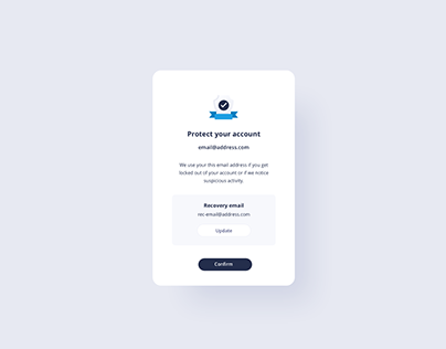 Day 975 • Protect Account UI Design