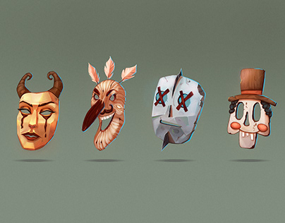 Concept art of masks