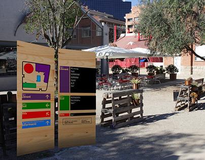 Proyecto de señalización para L'Estruch, Sabadell.