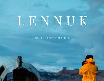 "School Newspaper ""Lennuk"" No. 41 – Front-Page Design"