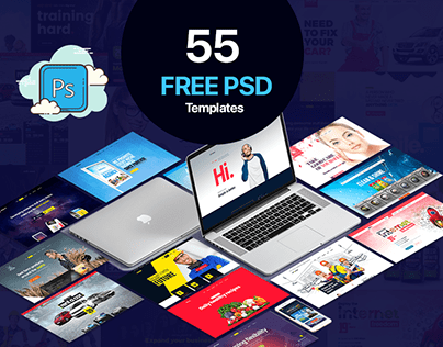 55 Free PSD Templates Pack. Mega Exclusive Giveaway!