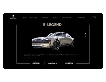 """Projet Automobile - Peugeot e-legend - """" Landing Page """""""