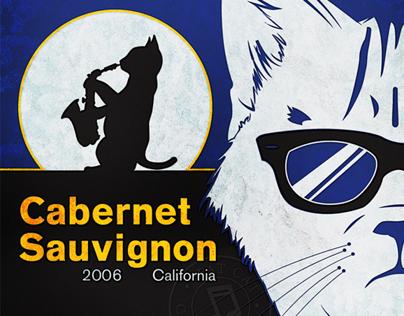 Fat Cat Wine Label