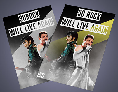 90s rock Live again poster