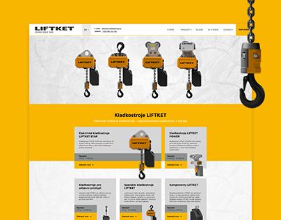 Webdesign UX / UI - Liftket company