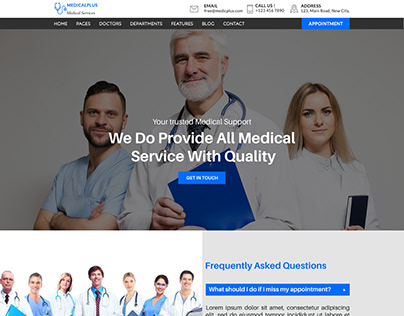 DOCTORS APPOINTMENT WEBSITE TEMPLATE