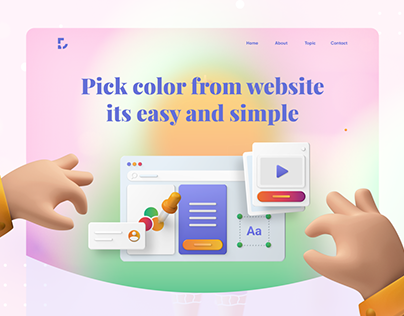 Color Picker Tools Landing Page | Header Exploration