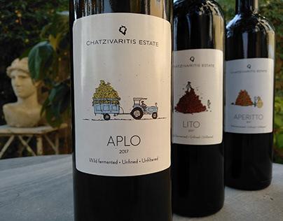 Wine Label Design. Chatzivariti winery 2018