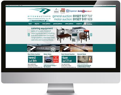 Arrow Auctions Wordpress Website Design