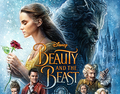 Beauty and the Beast - Illustrated Poster