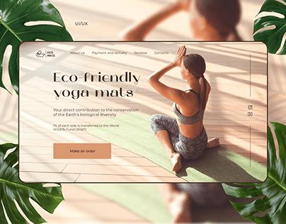 Eco-friendly yoga mats Landing page