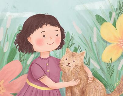 Kara dan Kucingnya - Illustrated Book(let)