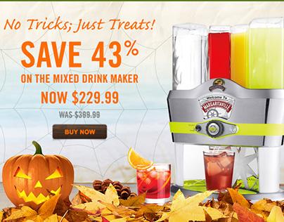 Margaritaville Cargo Halloween Themed E-mailer