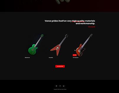Vance Custom Guitars Website