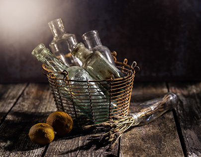 Bottle still-life