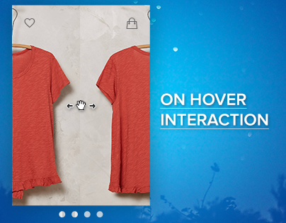 On Hover Interaction for an eCommerce Store