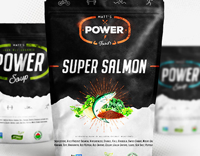 Custom Power soup package design