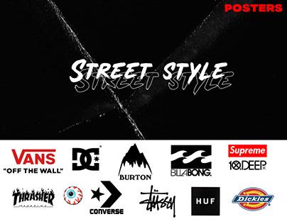 Streetwear posters