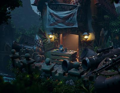 Tribute to Monkey Island - Lemonade Stand at Night
