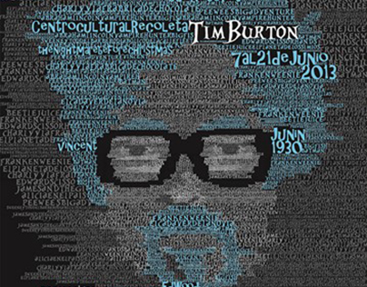 Tim Burton Retrospective Poster