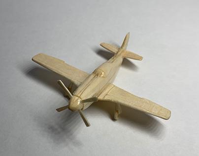 P-51D Mustang, woodcraft