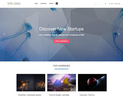 Startup site design