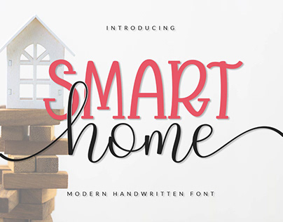 Smart Home_Display and Script Font