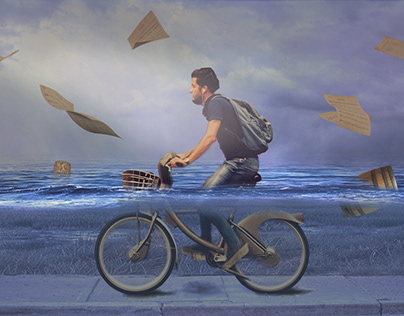 Cycling under water
