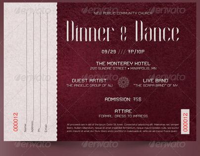 Dinner and Dance Ticket Template on Behance – Dinner Tickets Template