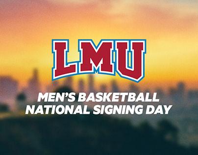 LMU Men's Basketball Signing Day