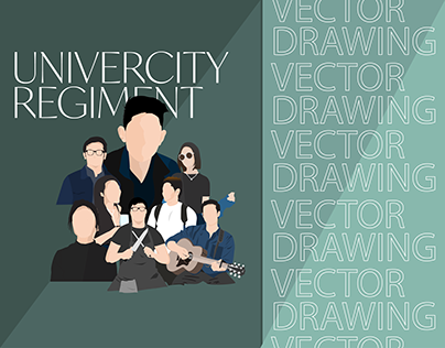 Reunited with Friends (*these days) - Vector Drawing