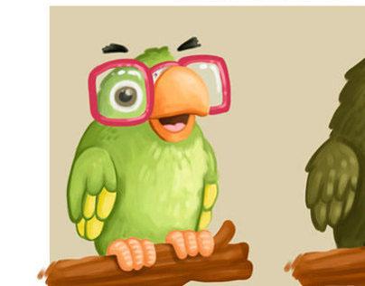 Peruvian parrots