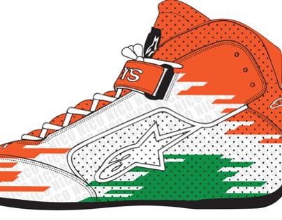 Nico Hulkenberg Alpinestars Shoe Design