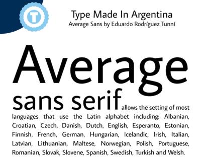 AVERAGE SANS - Free Google Web Font
