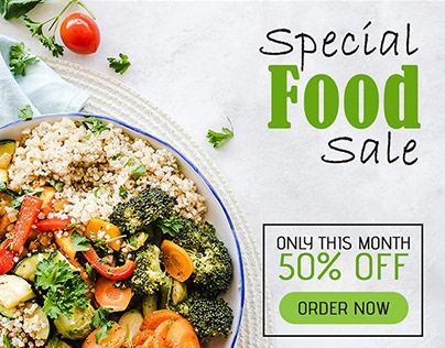 Free Food Sale Web Banner Set